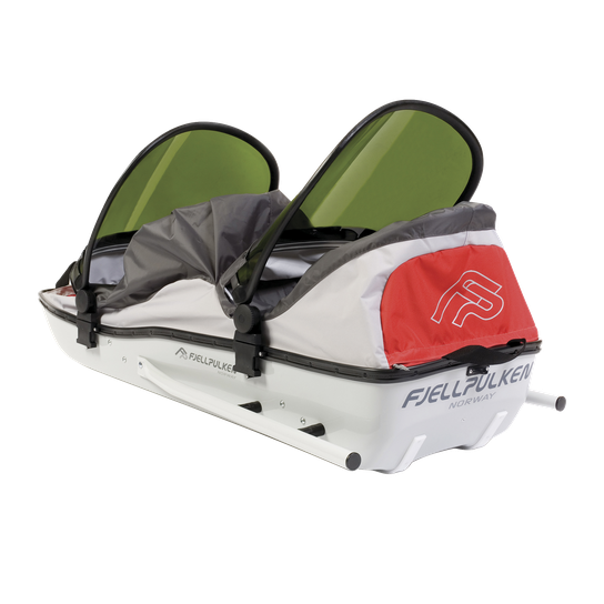 Fjellpulken Children Sibling Complet 18/19, turpulk for 2 barn