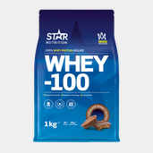 Star Nutrition - Whey-100, 1 Kg STRAWBERRY