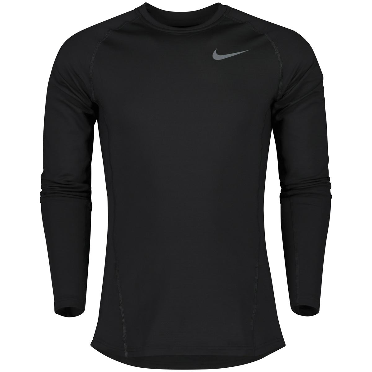 059e7224 Nike Pro Warm Top, treningsgenser herre - Grå - Trening   XXL