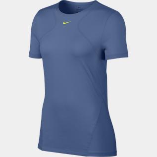 Nike Pro Top, t skjorte dame Blå Trening t skjorte | XXL
