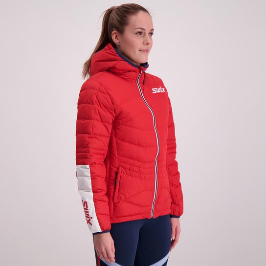 Swix Dynamic Down Jacket, dunjakke dame Rød Dunjakker | XXL