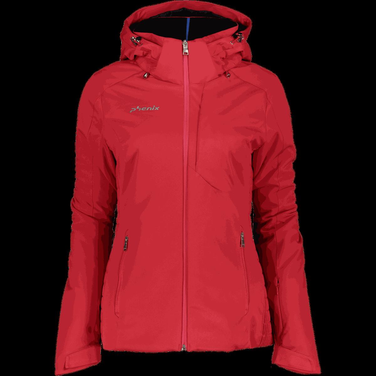 Hyggelig Phenix Maiko Jacket, skijakke dame - Rød - Ski og snowboardjakker PW-89