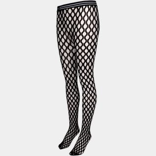 Clary Fishnet Logo Tights, tights dame
