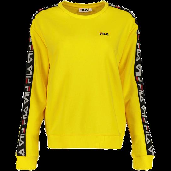 Fila Tivka Crew Sweat, genser dame yellow Fritid | XXL