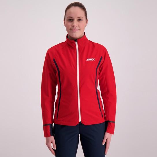 rød og hvit Swix zip up jakke
