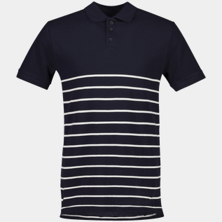 Polo Pique Striped, poloskjorte herre
