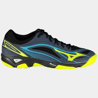 Details about Asics Junior Gel Beyond 4 Indoor Court Shoes Blue Sports Badminton Handball