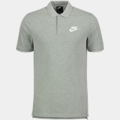 Polo Pique Matchup Mns DK GREY HEATHER/WHIT