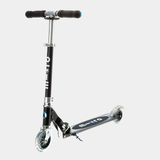 MicroSprite black scooter, sparkesykkel